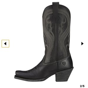 Ariat-Lively Western- black cowgirl boots